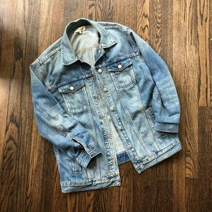 Madewell Oversized Denim Jacket in Capstone Wash